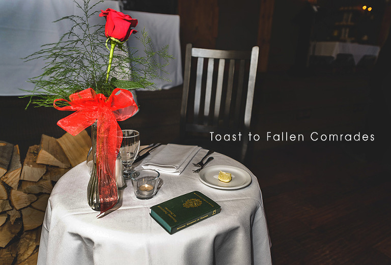 Toast to Fallen Comrades table setup