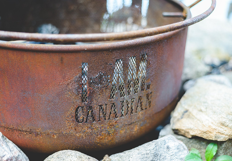 I AM CANADIAN Fire pit photo