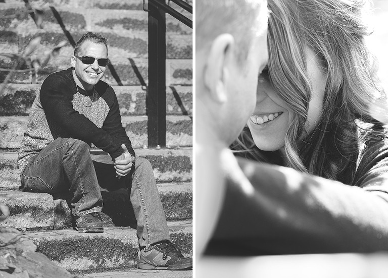 Little Lake Park Engagement photos in Midland