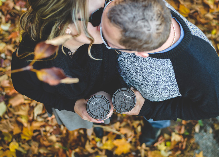 Tim Hortons Coffee Cup Engagement photo