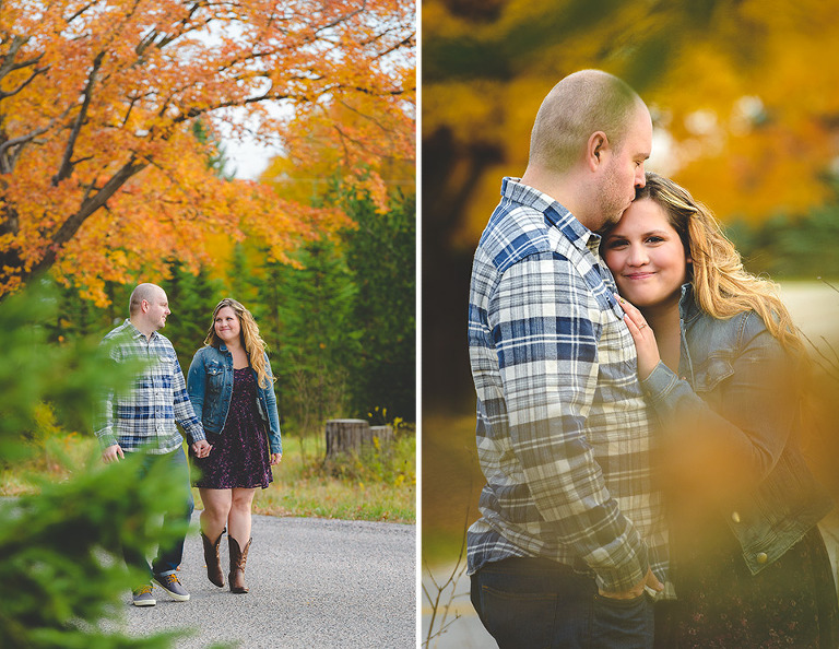 Barrie Fall engagement photos
