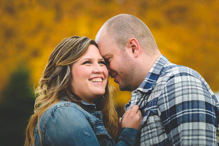 Fall engagement photos in Barrie Ontario