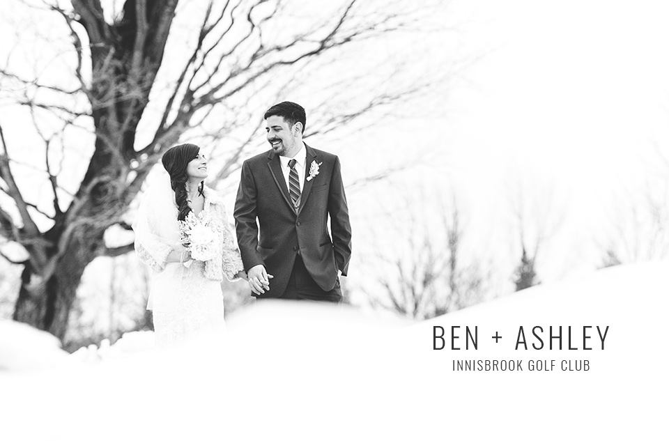 Winter wWedding photo at Innisbrook Golf Club in Barrie