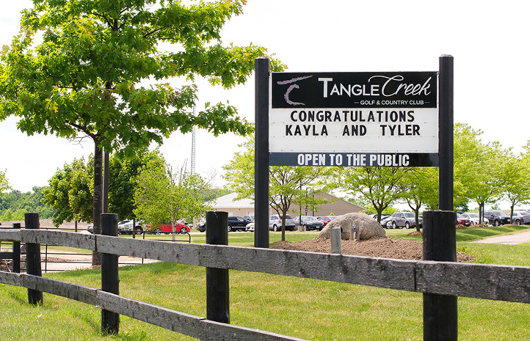 Tangle Creek Golf and Country Club wedding photo