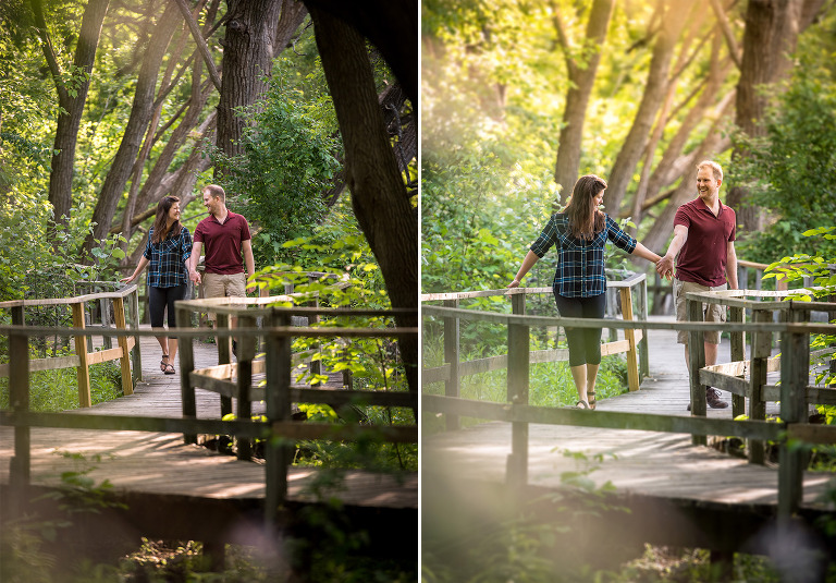 Whimsical engagement photos in Collingwood