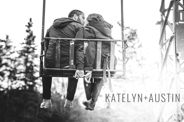 Winter pre-wedding photos in Collingwood Ontario