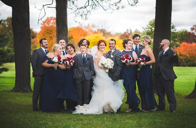 Bridal Party photo in Fall