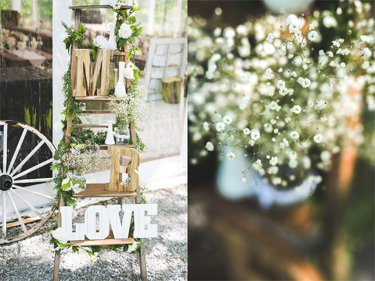 Northbrook Farm wedding reception decor